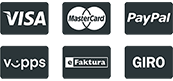 eFaktura / PayPal / VISA / MasterCard